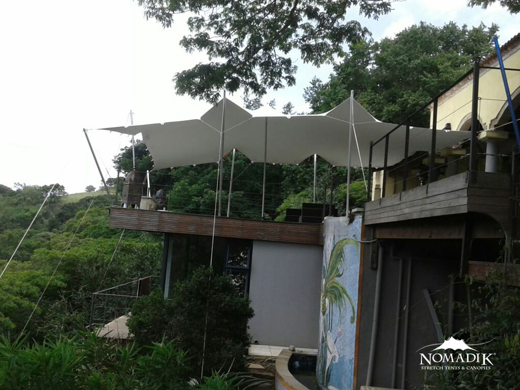 Custom made Stretch tent on a roof
