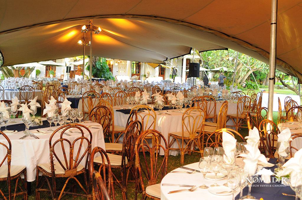 Stretch tent rental at a venue